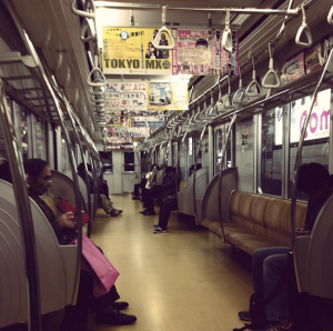 The train network is elaborate but works so efficiently. The trains aren't always this empty, and lugging our snowboard gear around Tokyo station during peak hour is one of my favourite memories as people stared at us with open mouths. I have come to appreciate how the Japanese are able to sleep on the trans and wake up just before their station. I came to call these 'Jap naps'.