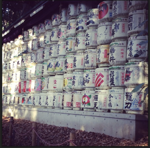 There are a range of cultural displays in the park at the end of the Harajuku suburb. These lanterns were so intricate.